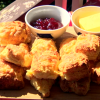 Cheese Scones on a Plate