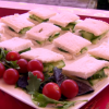 Cucumber Sandwiches on a Plate