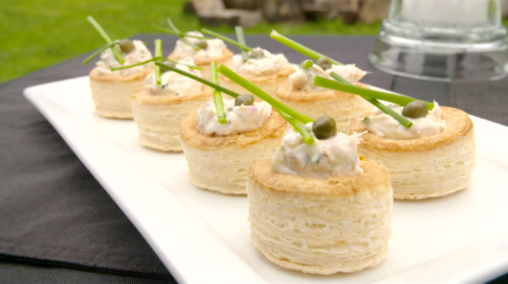 Smoked trout canapes m ori television for Smoked trout canape