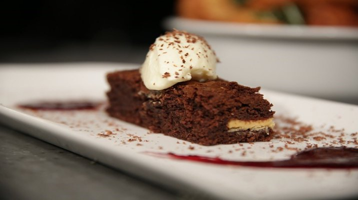White chocolate brownie