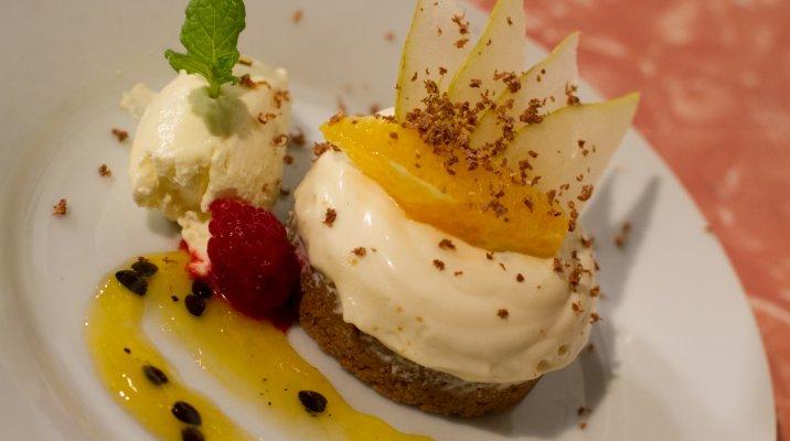 White Chocolate Passionfruit Swirl Cheesecake - Whānau Bake Off