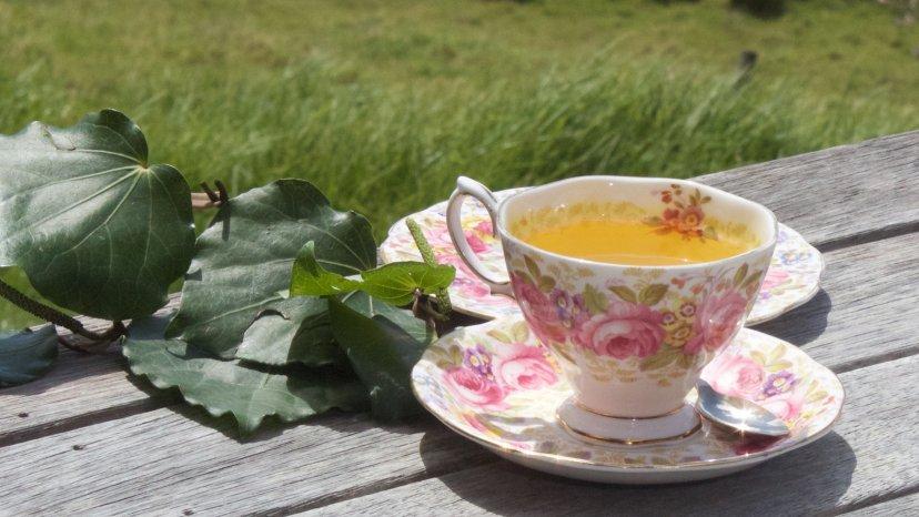 Tumeric, Ginger & Kawakawa tea on display