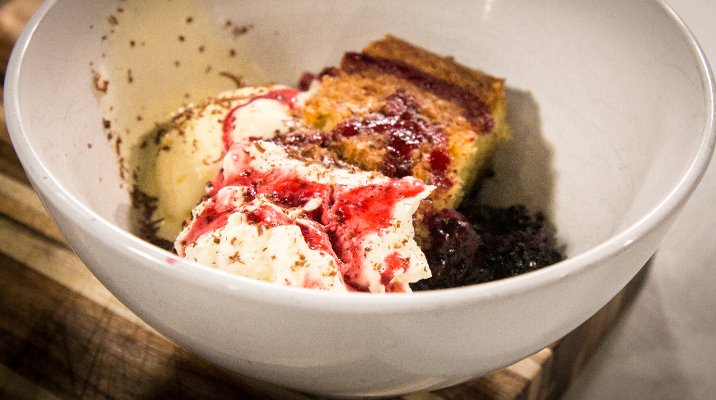 Berry Compote on blackberry pie