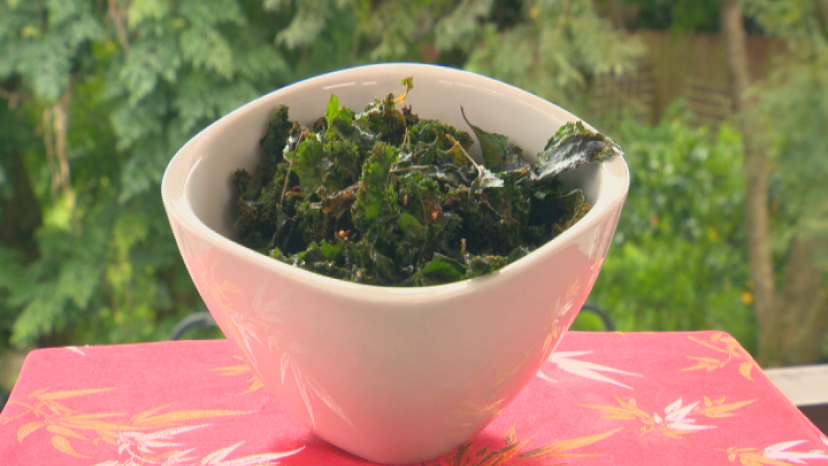 Kale Chips on display