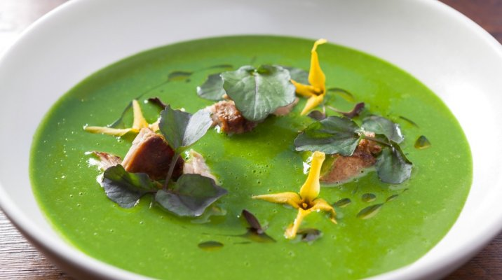 Watercress and pork soup