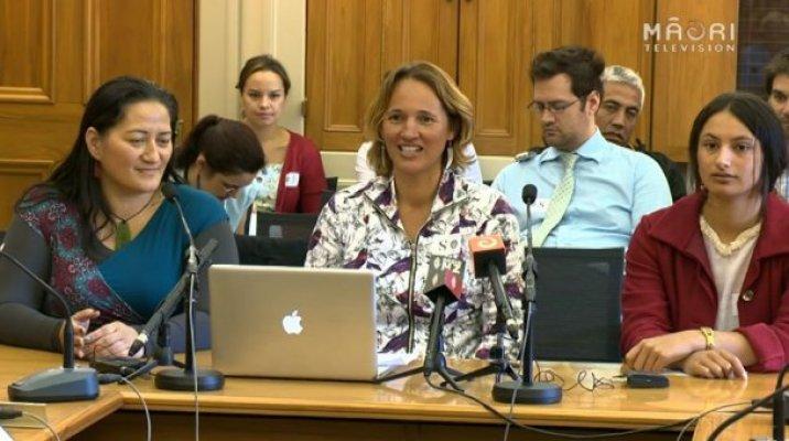 Te Reo Māori advocacy group Ūmere before Māori Affairs Select Committee