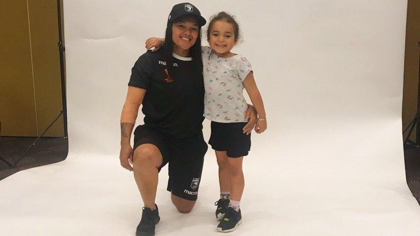 Shontelle Woodman with daughter, Arahi - Image / Te Kāea