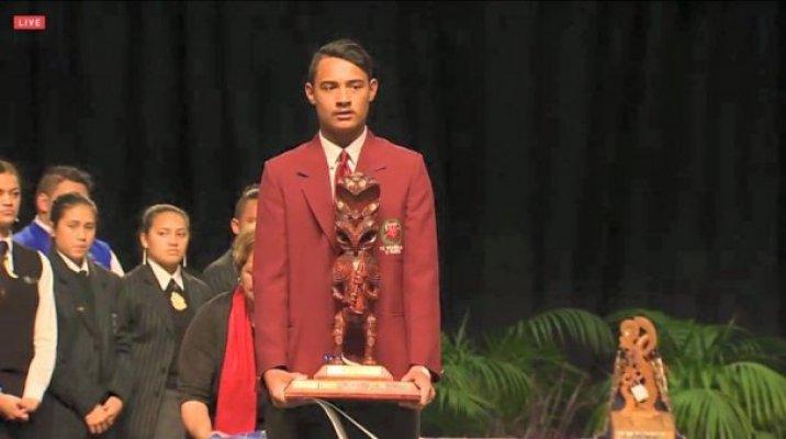 Pei Te Hurinui winner, Akuira Tiakiwai - Image / hakatv.com