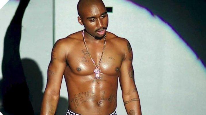 Demitrius Shipp Jnr as Tupac Shakur - Image / You Tube trailer