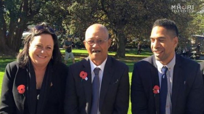 Descendants of Fred Eru Toe, a Māori Pioneer Tunneller, meet at Parliament for special Anzac Parade - Photo / file