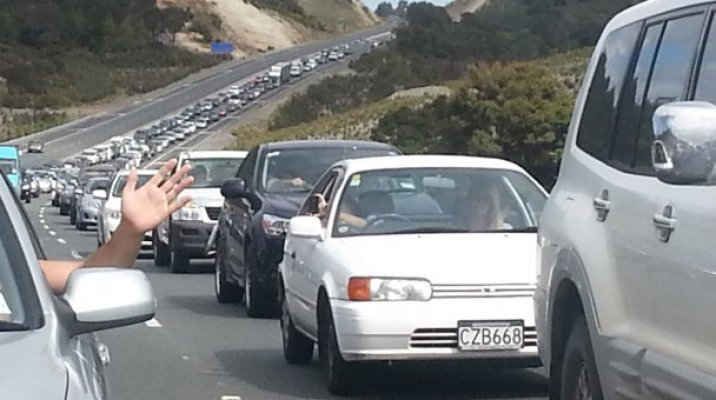 Auckland traffic heading North - Photo / file