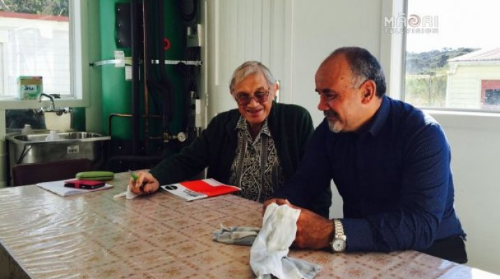 Professor Whatarangi Winiata and Te Ururoa Flavell - Photo supplied