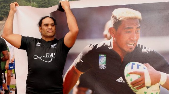 Berryman at the commemorative match for Jerry Collins - Photo / OnItRugby