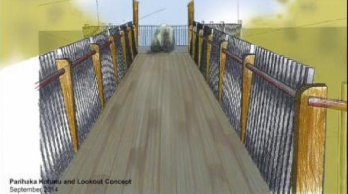 Parihaka Kohatu and Lookout Concept - Photo / supplied