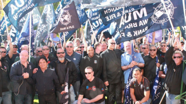 Protestors against Chevron outside New Zealand consulate in Perth