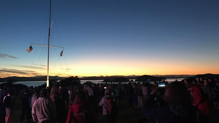 Big crowd for Waitangi Dawn Service