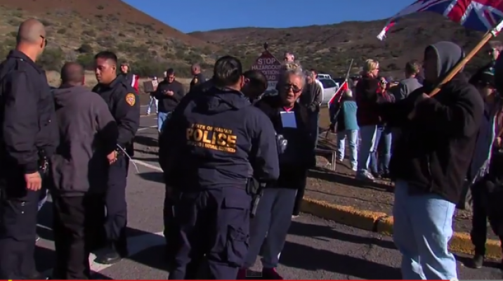 Protestors being arrested on Mauna Kea Hawai'i