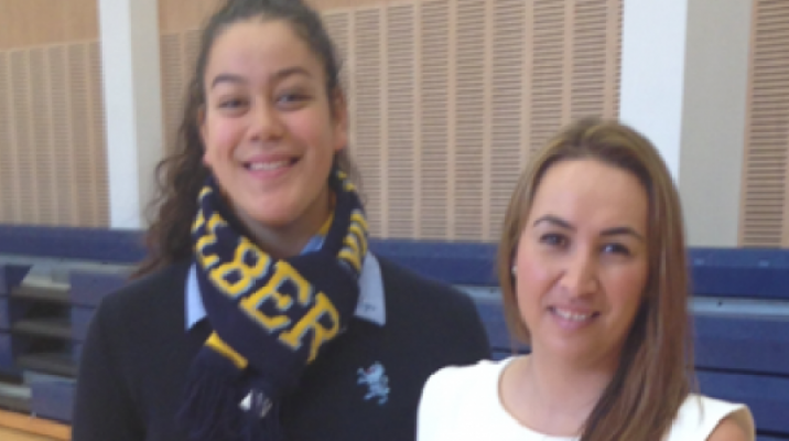 Maia Wilson with reporter Rahia Timutimu