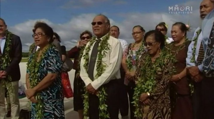 Niuean delegates at PM John Key visit in Niue
