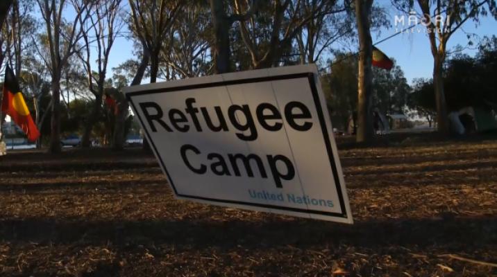 Nyungah tent embassy in Perth