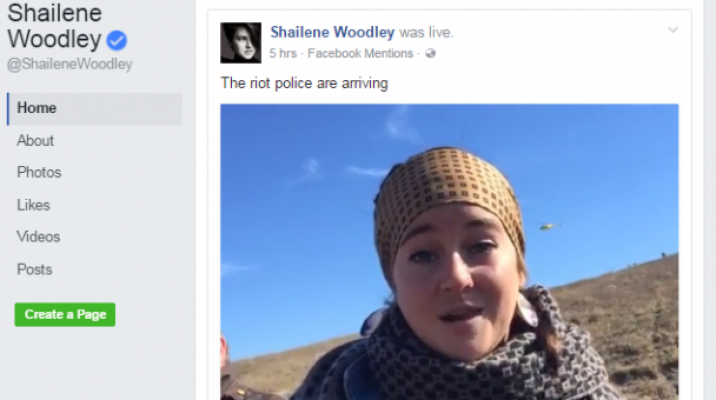 Image sourced from Shailene Woodleys Facebook Page