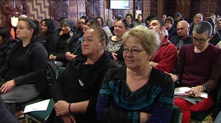 Meeting held in Te Pakira Marae, Whakarewarewa