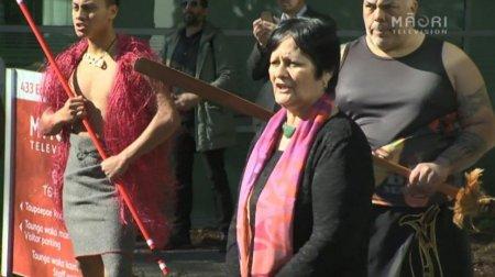 Whaea Mere Black me ngā kaimahi o Whakaata Māori - Photo / File