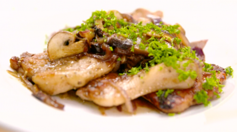 wild pork with mushroom and marsala