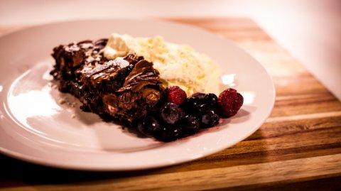 Dessert presented on a plate