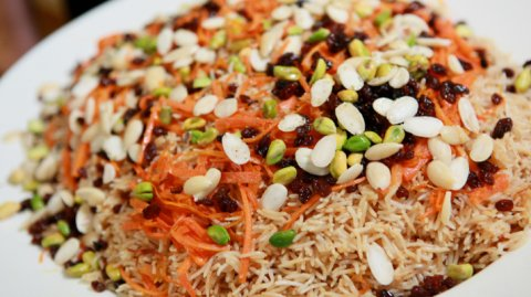 A delicious plate of Kabuli Pilau