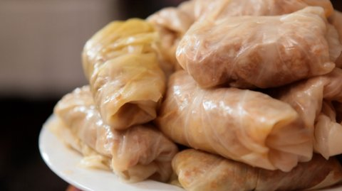Cabbage Rolls on a Plate