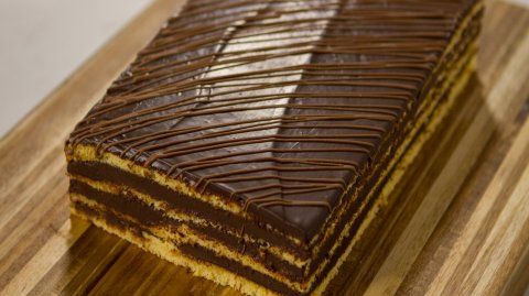 Kevin Gilbert's Chocolate and hazelnut layer cake
