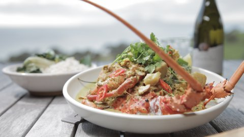 Coconut Prawn and Crayfish Curry on display