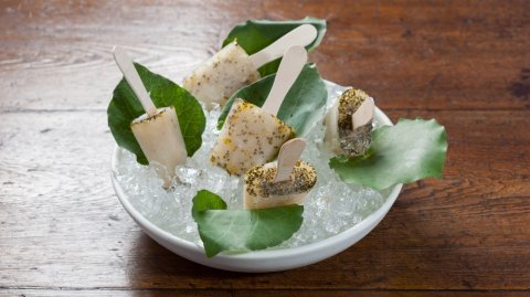 Kawakawa, ginger and lemon popsicles