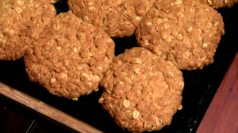 Oat Biscuits on display