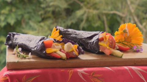 Vegetable Wrap on display