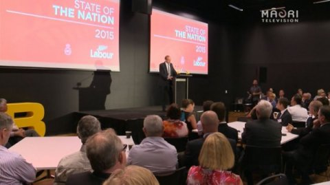 Labour leader Andrew Little delivers State of the Nation speech