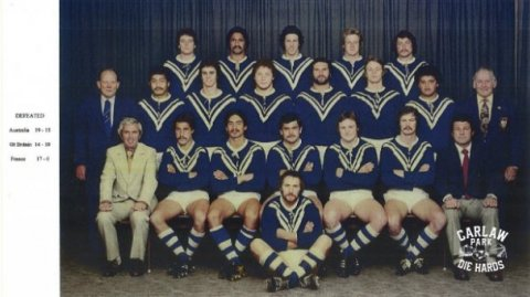 1977 Auckland Rugby League Premier Team - Photo / Carlaw Park Die Hards