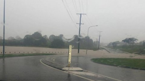 QLD rivers are flooding from heavy rainfall - Photo supplied