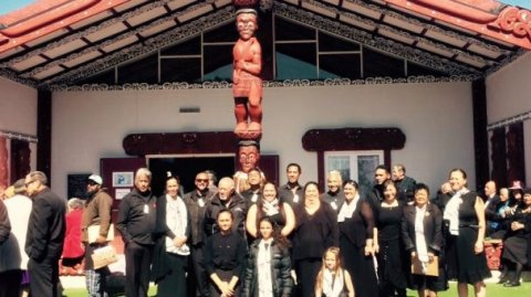 Whānau at Te Puea Memorial Marae 50th Anniversary - Photo / Charlotte Graham