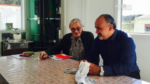 Professor Whatarangi Winiata and Te Ururoa Flavell - Photo supplied