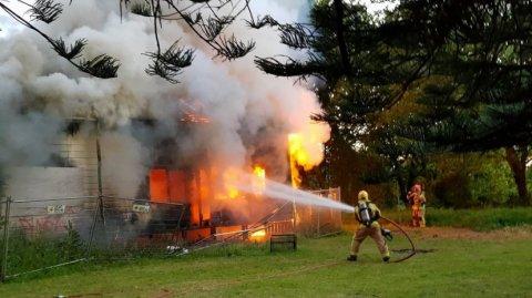 House Homestead ablaze in Māngere