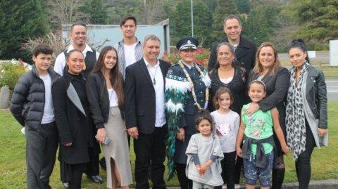 Moana Fox and whānau at award ceremony - Photo / Supplied