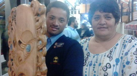 Paerangi Kopa from Northland College wins Tā Himi Henare taonga for top Bilingual - Photo / Kim Henare-Clarke
