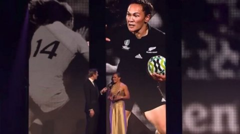 Portia Woodman at the 2017 World Rugby Awards