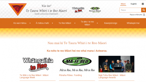 New look Taura Whiri i te Reo website - Photo / file