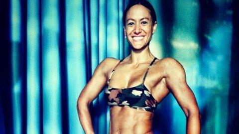 Pro figure champion Teneka Hyndman - Photo / Tamati Tiananga