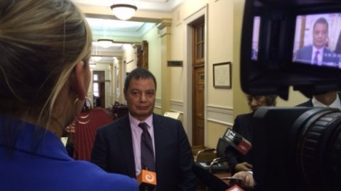 Māori Television CEO Paora Maxwell at Parliament - Photo / file