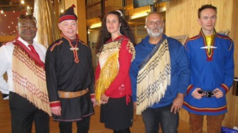 Mike Smith, Hinekaa Mako and Sonny Otene at Saami Parliament in Norway