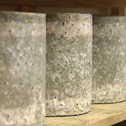 Blue cheese on shelf maturing